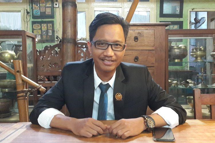 Gagah Soeryo Pamoekti, anggota DPRD Kota Malang termuda usai menjalani pelantikan, Sabtu (24/8/2019)