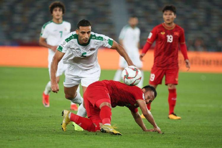 Laga Irak vs Vietnam dalam lanjutan Grup D Piala Asia 2019 berlangsung di Stadion Zayeed Sports City, 8 Januari 2019.