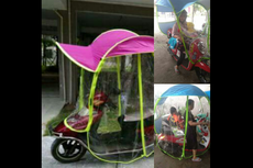 Motor Pakai Tenda Anti-Hujan, Amankah?