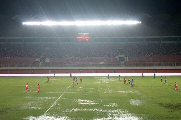 Kondisi lapangan Stadion Maguwoharjo, Sleman, Yogyakarta, Kamis (11/1/2018).