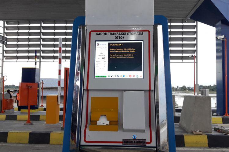 Gardu Transaksi Otomatis (GTO) disiapkan untuk transaksi non tunai di Gerbang Tol Lubuk Pakam, bagian dari Jalan Tol Medan-Kualanamu-Tebing Tinggi.