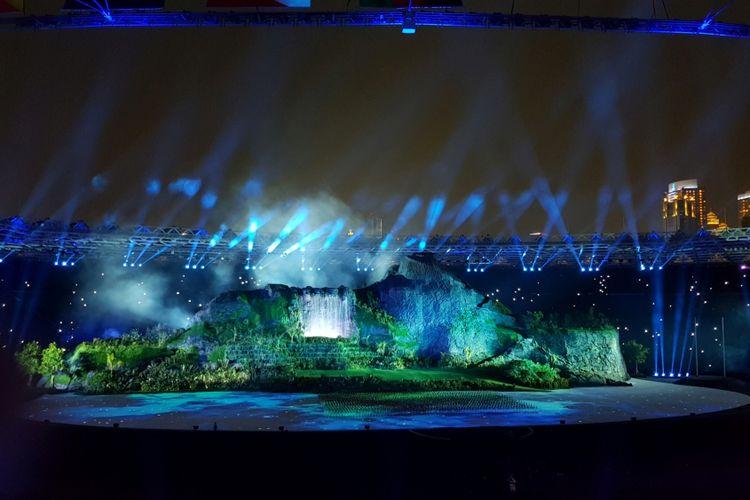 Pembukaan Asian Games 2018, Prosesi Hening Cipta untuk Lombok