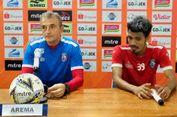 Pelatih Arema FC,  pertandingan melawan PSS Sleman laga yang berat.