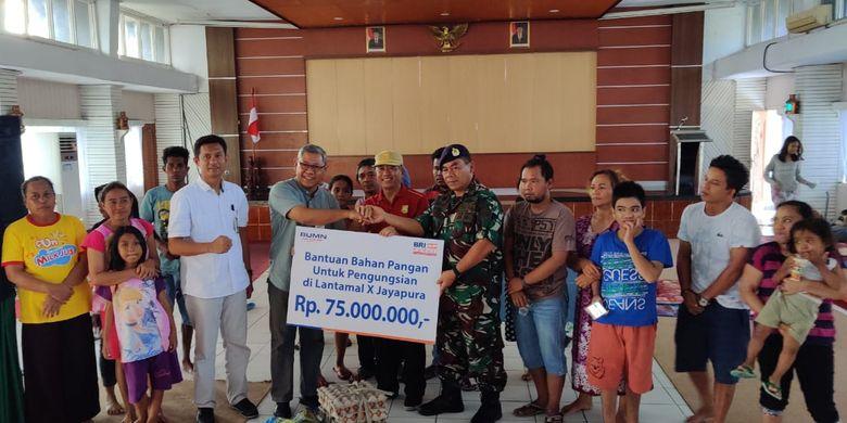 BRI Salurkan Bantuan Sembako Rp 75 Juta Kepada Korban Kerusuhan Papua