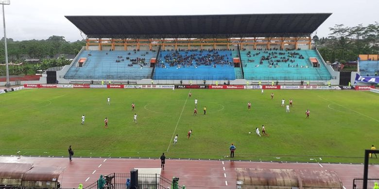 Pertandingan ketiga Grup C Piala Presiden 2019 antara Persipura Jayapura vs Kalteng Putra yang berlangsung di Stadion Moch. Soebroto, Magelang, Sabtu (16/3/2019) sore.