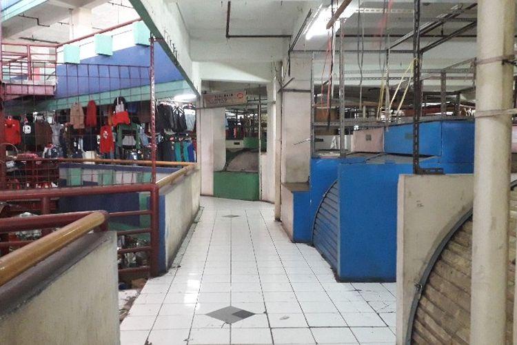 Kondisi Pasar Tanah Abang Blok G, Jakarta Pusat pada Sabtu (24/2/2018).