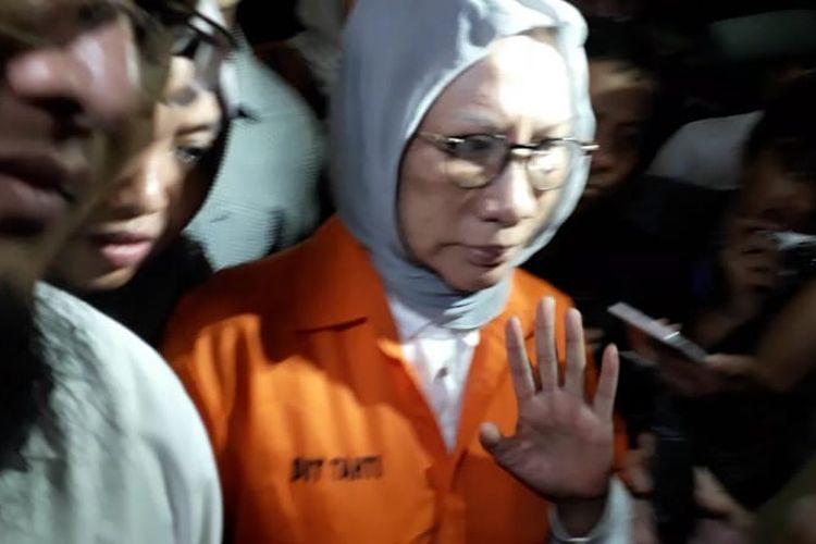 Aktivis Ratna Sarumpet ditahan, Jumat (5/10/2018).