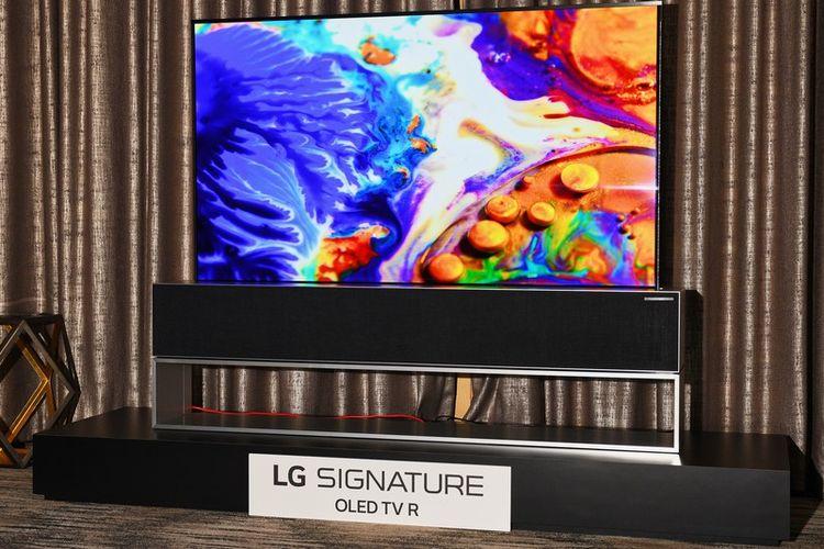 TV LG OLED yang bsia digulung