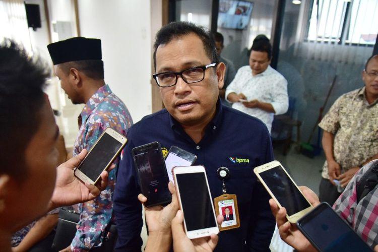 Pelaksana Tugas (Plt) Kepala Badan Pengelola Minyak dan Gas Bumi Aceh (BMPA) Azhari Idris, di Lhokseumawe, Selasa (9/4/2019)
