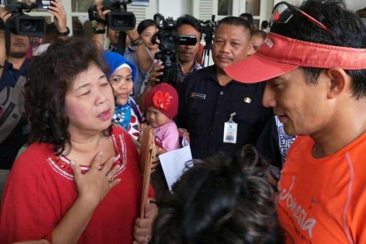Wakil Gubernur DKI Jakarta Sandiaga Uno menerima aduan warga pluit di Balai Kota DKI Jakarta, Jalan Medan Merdeka Selatan, Rabu (15/11/2017).