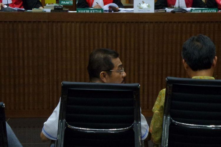 Mantan Menteri Dalam Negeri, Gamawan Fauzi, di Pengadilan Tipikor Jakarta, Kamis (16/3/2017).