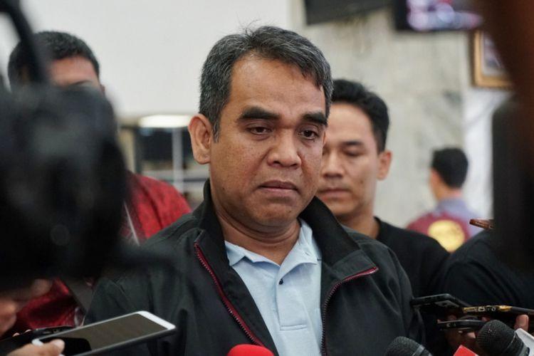 Sekjen Partai Gerindra Ahmad Muzani di Kompleks Parlemen, Senayan, Jakarta, Selasa (16/10/2018).