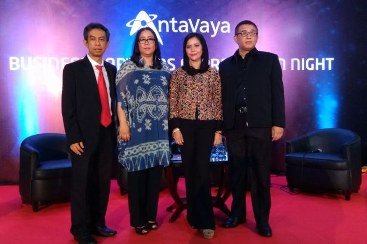 Jejeran direksi agen perjalanan Antavaya dalam acara jumpa pers Business Partners Appreciation Night, Jumat (10/11/2017).