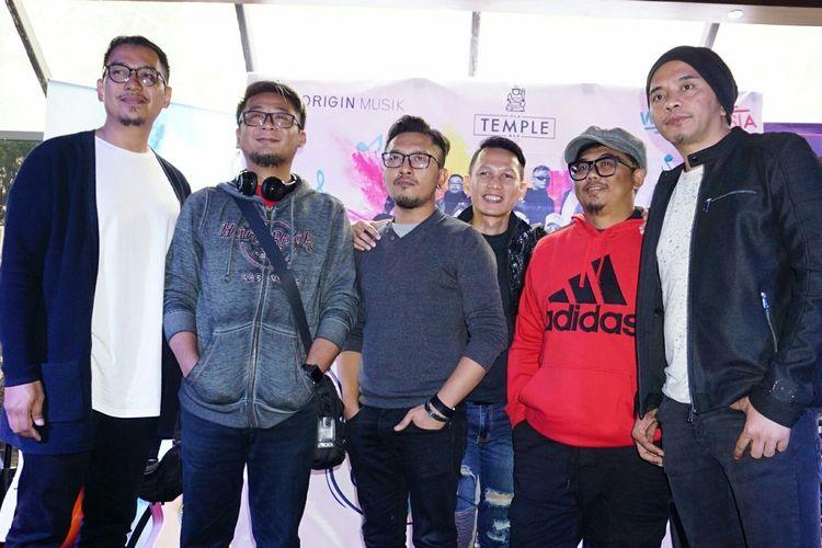 Grup band The Titans dalam jumpa pers Origin Musik Indonesia di Kawasan Senopati, Jakarta Selatan, belum lama ini.