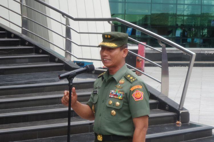 Kepala Pusat Penerangan TNI Mayor Jenderal Wuryanto saat jumpa pers di Taman Ismail Marzuki, Jakarta Pusat, Selasa (10/10/2017).