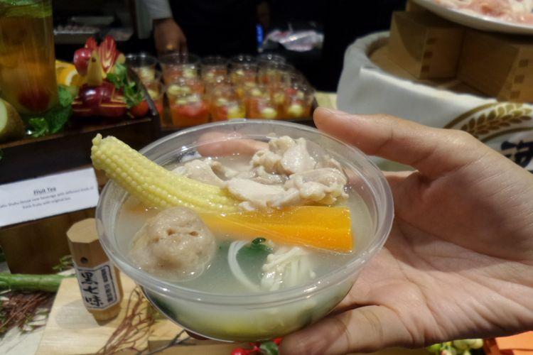 Menu collagen chicken nabe menjadi andalan yang disajikan oleh Shabu-Shabu House pada gelaran Good Food Festival 2018 di Plaza Indonesia selama 3-5 Desember 2018.
