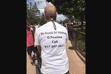 Pria Ini Temukan Donor Ginjal Berkat Foto Kaus Miliknya Viral