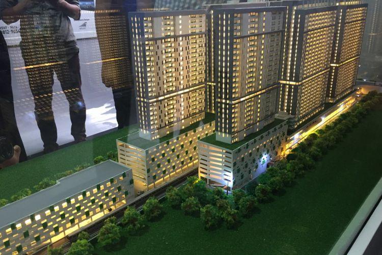 Proyek apartemen dan rusun TOD Stasiun Rawa Buntu yang dikembangkan Perum Perumnas