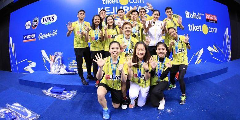 Greysia Polii/Apriyani Rahayu menjadi penentu kemenangan PB Jaya Raya di laga final beregu campuran dewasa Tiket.com Kejurnas PBSI 2018 dengan  mengalahkan PB Mutiara Cardinal Bandung dengan skor 3-1.