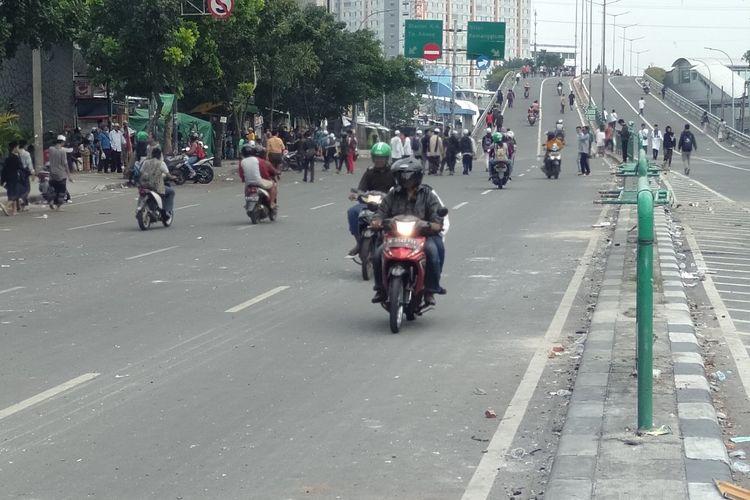 Warga Sudah Mulai Menggunakan Jalan Jati Baru Raya, Tanah Abang, Jakarta Pusat, Rabu (22/5/2019)