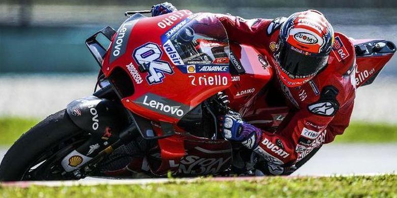 Andrea Dovizioso siap naik podium di MotoGP seri Amerika Serikat, Jumat (12/4/2019)