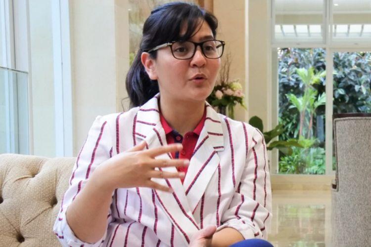 Sekjen PSSI, Ratu Tisha, menjawab sejumlah pertanyaan dalam wawancara eksklusif dengan Kompas.com, Selasa (12/2/2019).