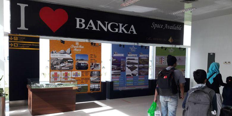 Bandara Depati Amir di Pangkal Pinang, Bangka Belitung, Senin (26/11/2018).