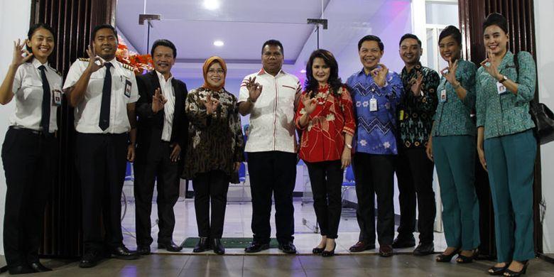 Peresmian gerai Garuda Indonesia di Langgur, Maluku Tenggara, Jumat (3/8/2018) malam.