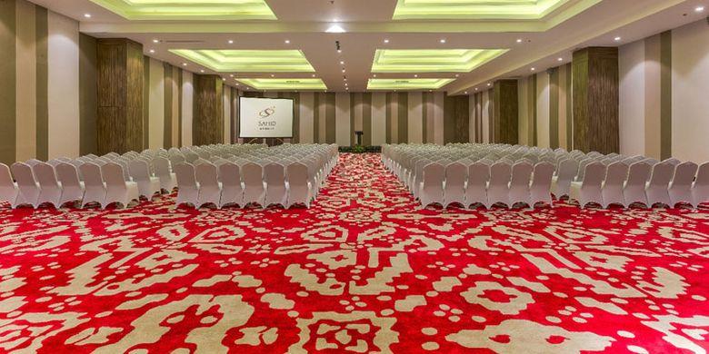 Balroom Hotel Sahid Bangka di Pangkal Pinang, Provinsi Bangka Belitung, Senin (16/11/2018).