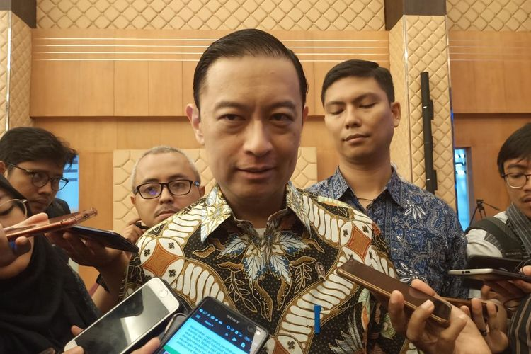 Kepala BKPM Thomas Lembong di kantor BKPM, Jakarta, Selasa (17/6/2019).