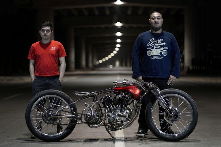 Andhika Pratama dan Lufti Ardika, builder iconic bike Suryanation Motorland 2018