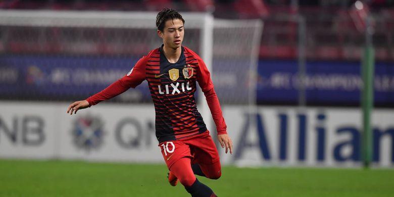 Hiroki Abe, pemain Kashima Antlers berusia 20 tahun yang baru direkrut Barcelona.