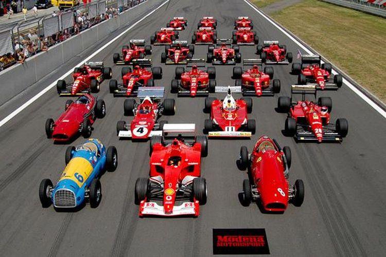 Ferrari dalam ajang F1.