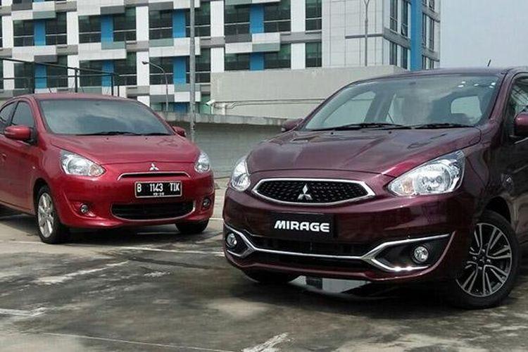 Mitsubishi New Mirage dan Mitsubishi Mirage model terdahulu