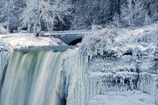 Citra Satelit Ungkap Badai Raksasa Penyebab Air Terjun Niagara Membeku