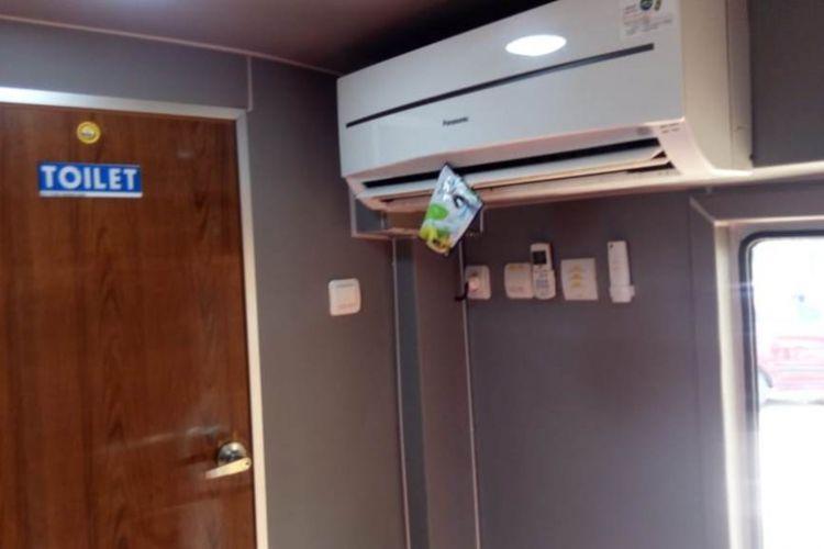 Toilet VVIP milik Kementerian PUPR di rest area darurat KM 467 di desa Koripan, Kecamatan   Susukan, Kabupaten Semarang memanjakan pemudik pada arus mudik 2018.