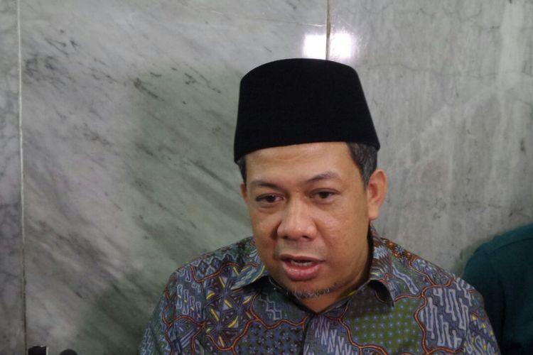 Wakil Ketua DPR RI Fahri Hamzah di Kompleks Parlemen, Senayan, Jakarta, Jumat (28/7/2017).
