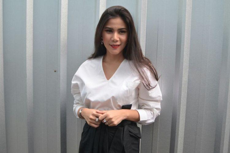 Cynthia Ramlan ditemui ketika hadir dalam sebuah acara di kawasan Tendean, Jakarta Selatan, Selasa (13/3/2018).