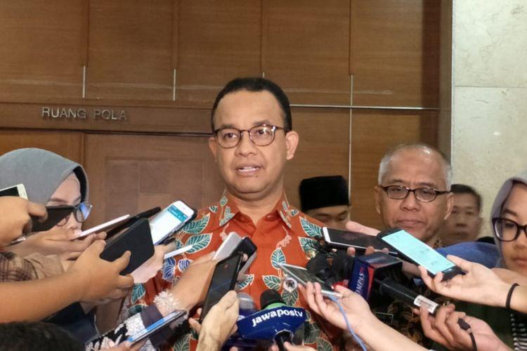 Gubernur DKI Jakarta Anies Baswedan di Balai Kota DKI Jakarta, Jalan Medan Merdeka Selatan, Kamis (27/12/2018).