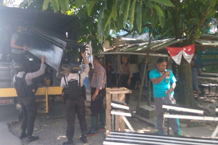 Lokasi kios yang dirusak oknum polisi Brigadir Polisi DS di Timika.