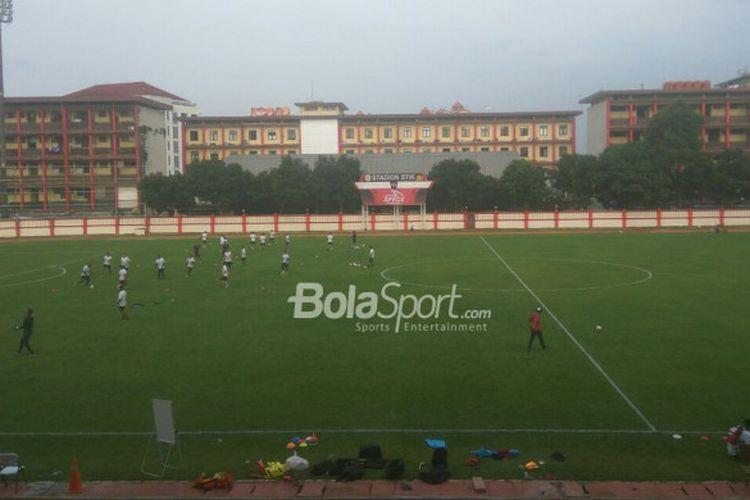 Bhayangkara FC untuk pertama kalinya musim ini kembali berlatih di Lapangan PTIK pada Selasa (17/4/2018) sore.