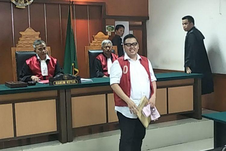Reza Bukan berada di ruang sidang Pengadilan Negeri Jakarta Barat, Rabu (14/11/2018), sesudah membacakan eksepsi terkait kasus dugaan penyalahgunaan narkotika yang menjeratnya.