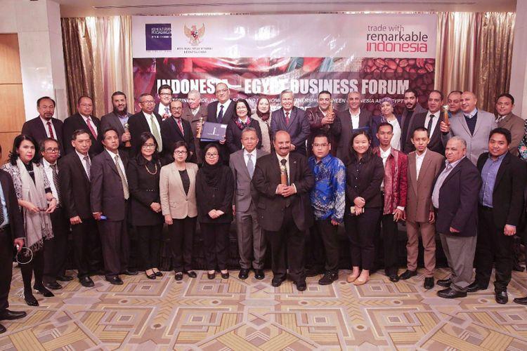 Para peserta Indonesia?Egypt Business Forum and Primaduta Award 2017 yang digelar pada Kamis malam  (7/12/2017) di Kairo, Mesir.
