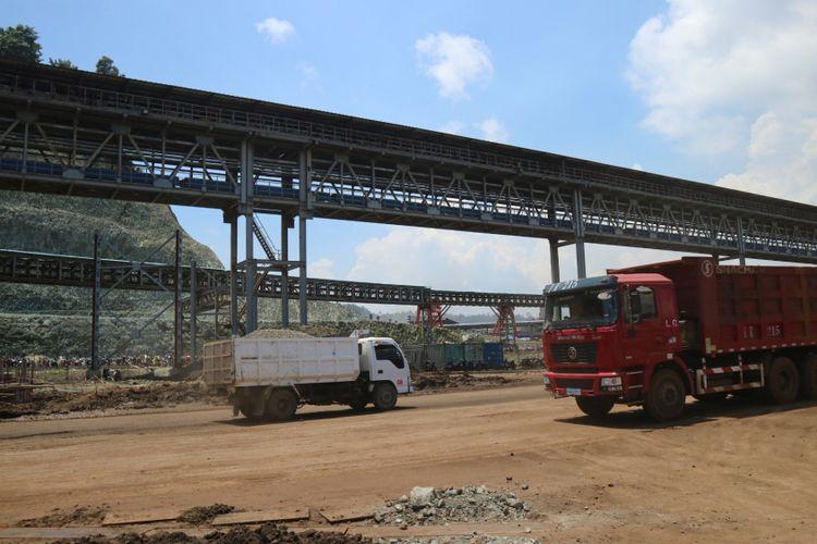 Salah satu tambang nikel terbesar di Morowali, Sulawesi Tengah.