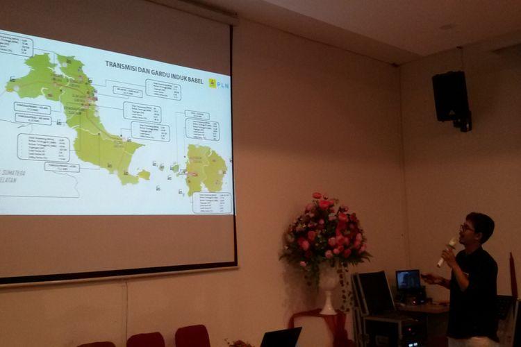 Pemaparan sistem listrik di Kepulauan Bangka Belitung oleh PLN Pangkal Pinang.