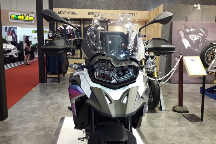 BMW F 850 GS yang diperkenalkan pada gelaran Gaikindo Indonesia International Auto Show (GIIAS) 2018 di ICE, BSD City, Tangerang, Kamis (2/8/2018).