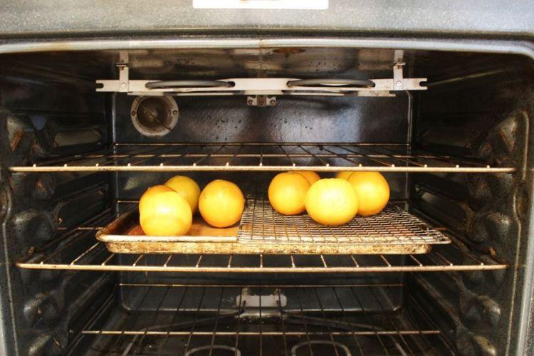 Atur di dalam oven.