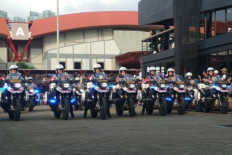 Polwan Dirlantas Polda Metro Jaya di IIMS 2019