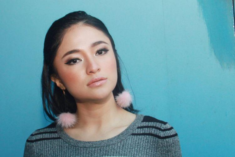 Marshanda saat ditemui di Studio Trans TV, Mampang, Jakarta Selatan, Jumat (15/12/2017).