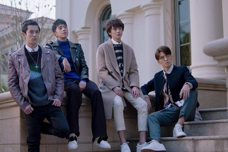 (Dari kiri) Darren Chen, Dylan Wang, Connor Leong, dan Wu Xi Ze dalam drama seri Meteor Garden (2018).